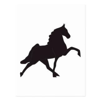 Walking Horse Silhouette Postcard