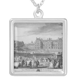 Walking in the Luxembourg gardens, 1729 Silver Plated Necklace