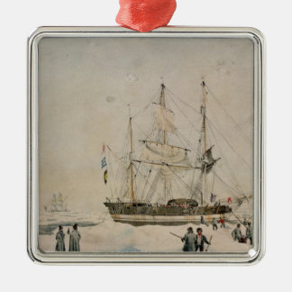 Walking in the Pack, Ross Expedition, 1842 Christmas Ornament