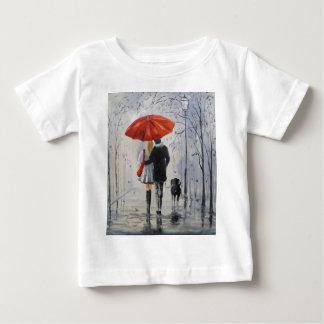 Walking in the rain baby T-Shirt