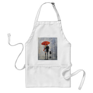 Walking in the rain standard apron