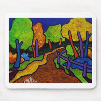 Walking in Vermont by Piliero Mouse Pad
