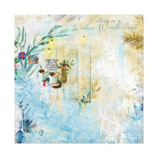 Walking in winter wonderland canvas print
