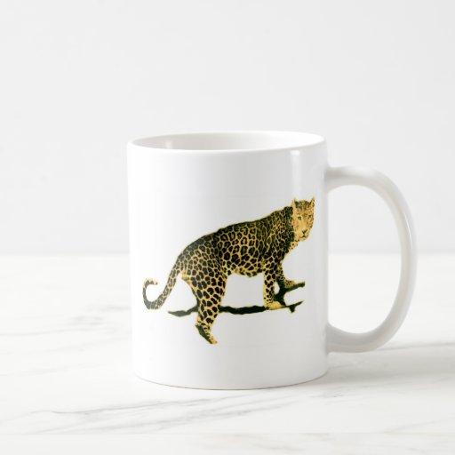 Walking Leopard Basic White Mug