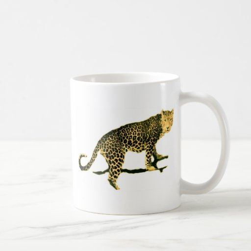 Walking Leopard Classic White Coffee Mug