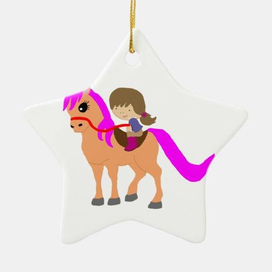 Walking on my pony christmas ornament