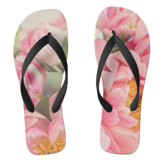 Walking on soft petals flip flops