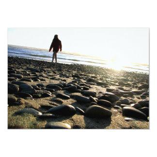 Walking on Stones 13 Cm X 18 Cm Invitation Card