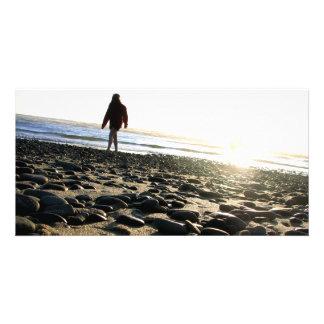Walking on Stones Photo Card
