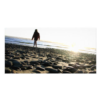 Walking on Stones Photo Greeting Card
