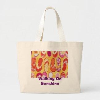 Walking On Sunshine Large Tote Bag