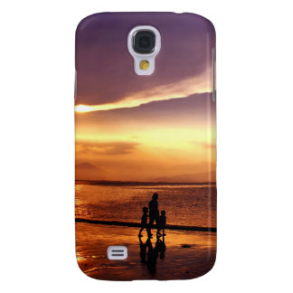Walking on the Beach at Sunset Galaxy S4 Case
