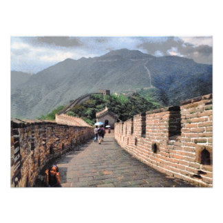 Walking on the Great Wall of China Photograph