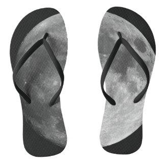 Walking on the moon flipflops. flip flops