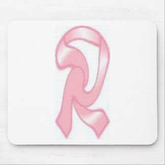 Walking or Running Pink Ribbon Mouse Pad
