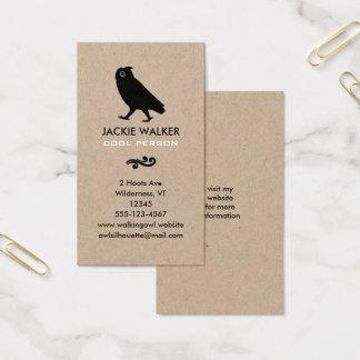 Walking Owl Silhouette Business Card