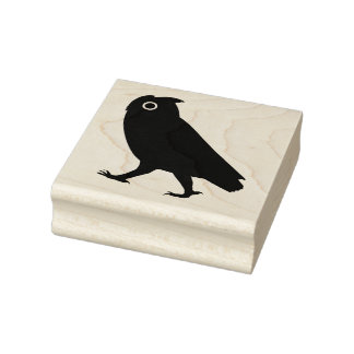 Walking Owl Silhouette Rubber Stamp