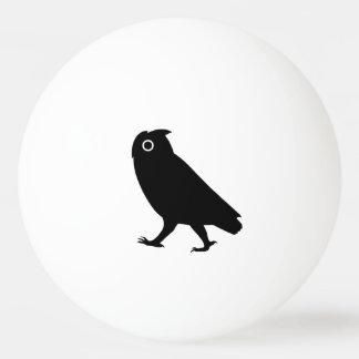 Walking Owl Silhouettes Ping Pong Ball