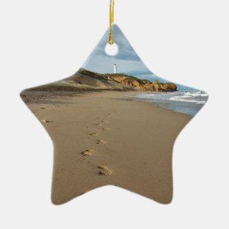 Walking the beach, Great Ocean Road Australia Ceramic Star Decoration