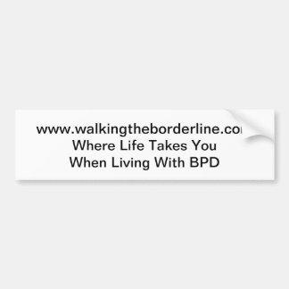 Walking the Borderline Sticker Bumper Sticker