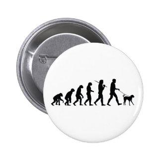 Walking The Dog 6 Cm Round Badge
