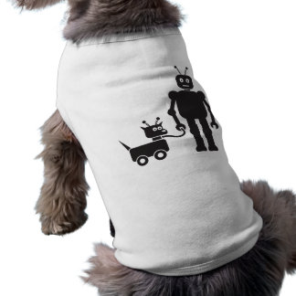 Walking the Dog-Bot Sleeveless Dog Shirt