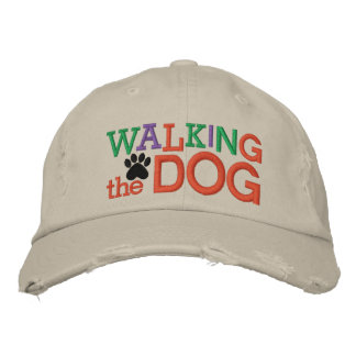 Walking the Dog Cap by SRF Embroidered Cap