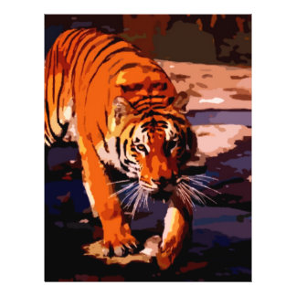 Walking Tiger 21.5 Cm X 28 Cm Flyer