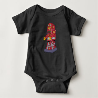 Walking Tin Robot Baby Bodysuit