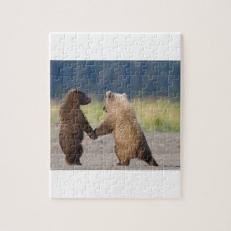 Walking Together Hand In Hand Jigsaw Puzzle