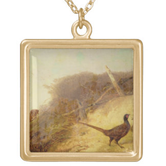 Walking up Pheasants on the 1st of October (see al Gold Plated Necklace