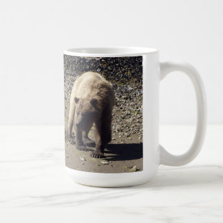 Walking Wild Grizzly Bear Wildlife Photo Basic White Mug