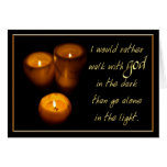 Walking With God Candles Greeting Cards