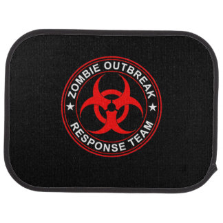 Walking Zombie Dead Response Team Car Floor Mats