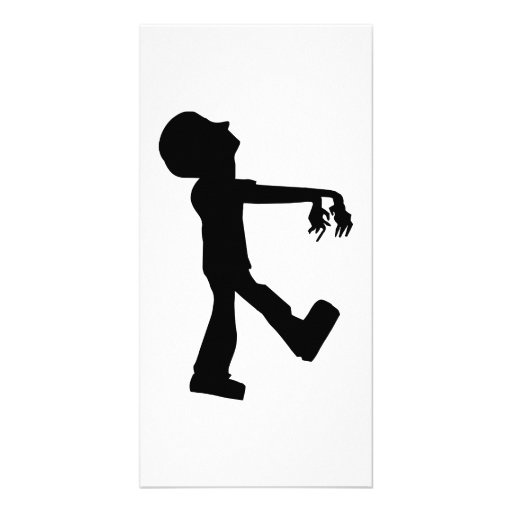 Walking Zombie Photo Card Template