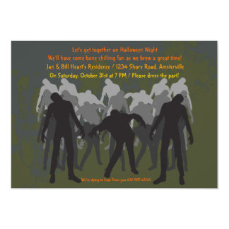 Walking Zombies Invitation