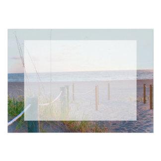 walkway florida beach dune sunrise personalized invite