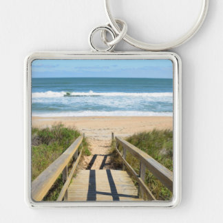 Walkway to the Beach Keychain