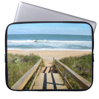 Walkway to the beach laptop sleeve