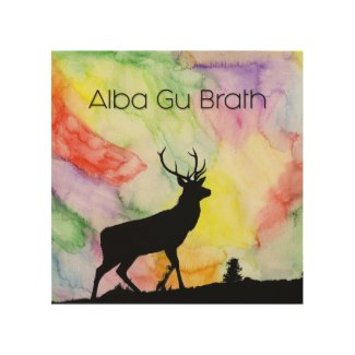 "WALL ART ""ALBA GU BRATH"