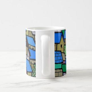 Wall art mug. Small houses. Basic White Mug