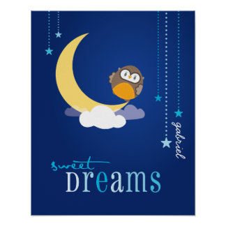 WALL ART :: owl - sweet dreams 2