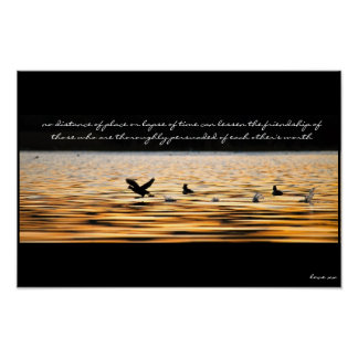 Wall Art Poster -  Friendship Quote - Love Quote -