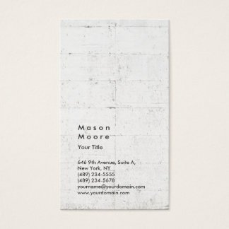 Wall Backgorund Vertical Modern Style Professional Business Card