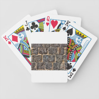 wall bicycle playing cards