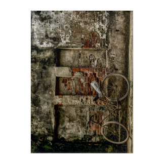 Wall bike acrylic print