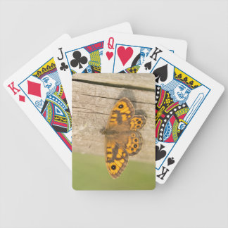 Wall Brown Butterfly Bicycle Playing Cards