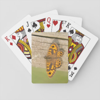 Wall Brown Butterfly Playing Cards