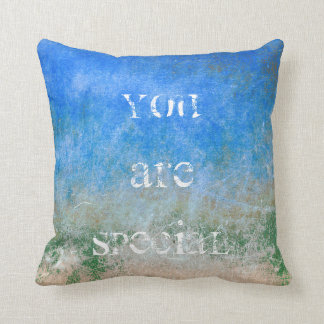 Wall Cement Personalized Grungy Gray Blue Green Cushion