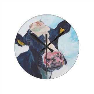 Wall Clock - 0254 Irish Friesian Cow